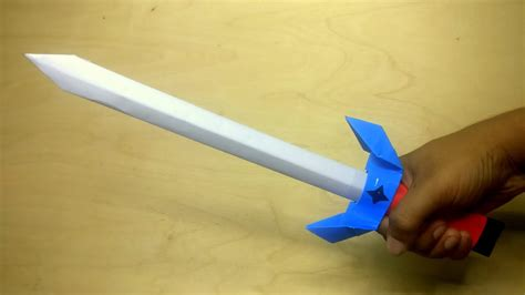 How To Make Paper Weapons - how to make a paper sword sword tutorial diy