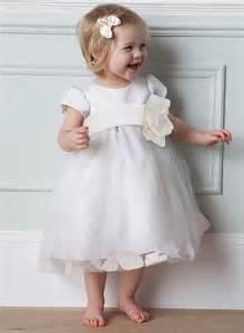 Cute baby flower girls in white dresses baby flower girls dresses