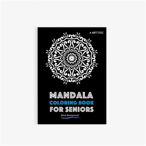 coloring books for seniors mandala coloring book for seniors with black background