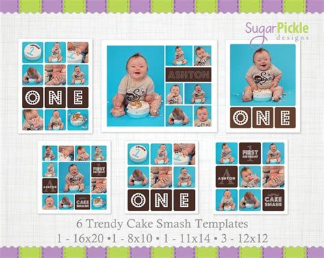free birthday collage template cake smash template 3 set 3 pack cake smash storyboard