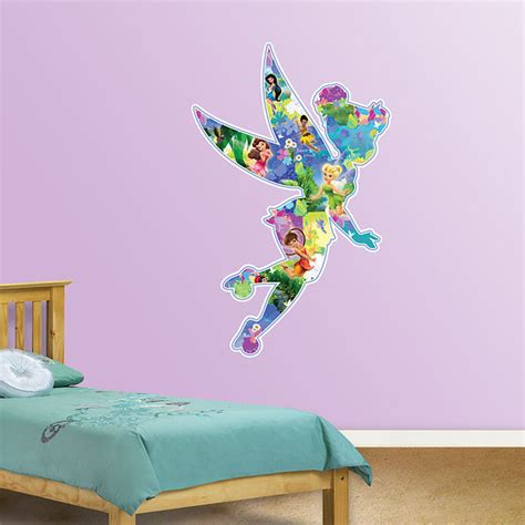 tinkerbell wall sticker fathead disney fairies montage wall sticker