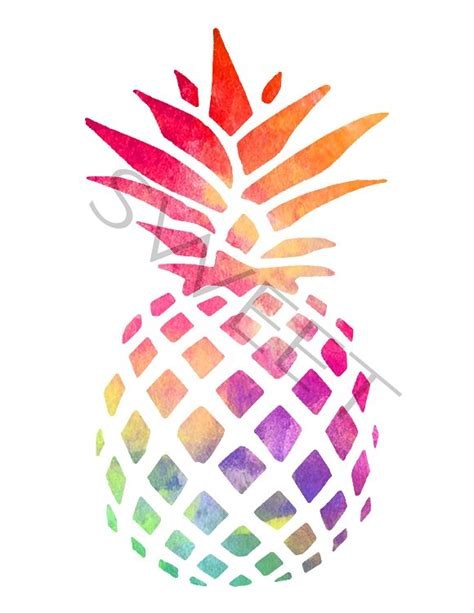 pineapple color pineapple clipart watercolor pencil and in color