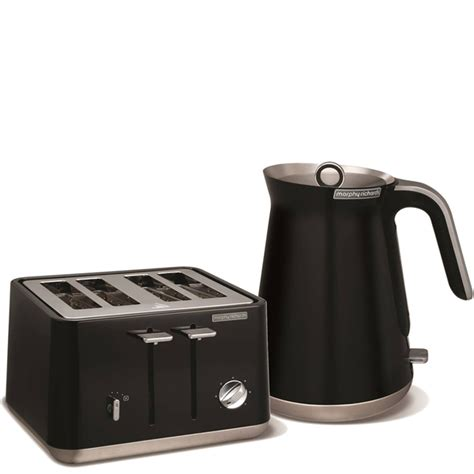 Morphy Richards Kettle And Toaster Black morphy richards aspect steel 4 slice toaster and kettle bundle black homeware zavvi
