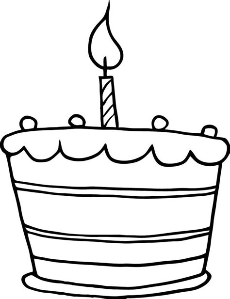 plain cake coloring page simple clipart birthday cake pencil and in color simple