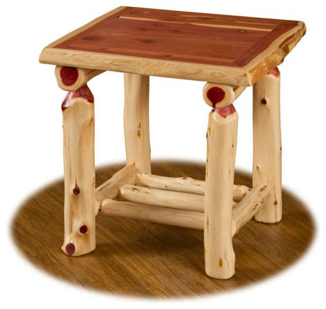 Log End Tables And Coffee Tables Shop Houzz Furniture Barn Usa Rustic Cedar Log End Table Side Tables And End Tables
