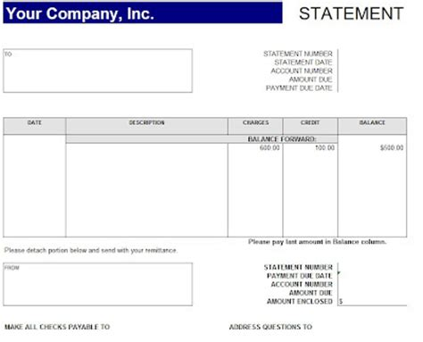 T Accounts Excel Template by Account Statement Format Template Sle