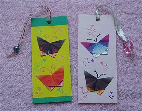 butterfly origami bookmarks