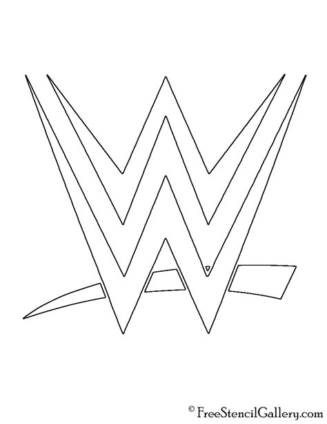 wwe logo coloring page wwe logo stencil free stencil gallery