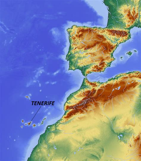 tenerife on a world map tenerife