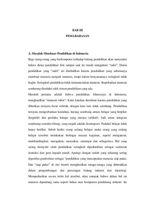 Lu Emergency Di Jakarta makalah permasalahan pendidikan di indonesia dan solusinya