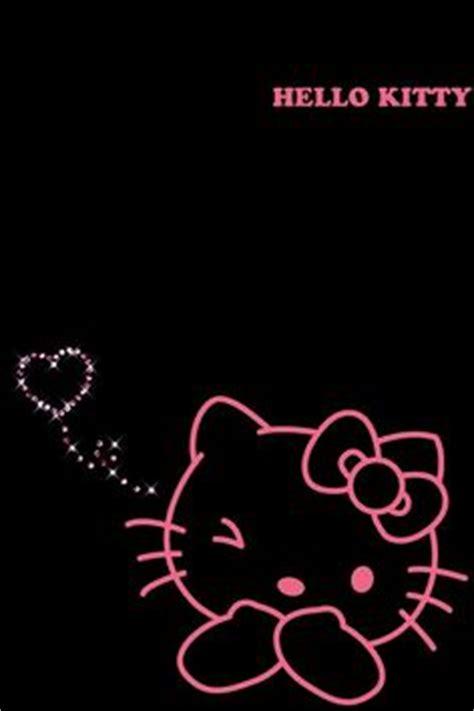 wallpaper hello kitty pink hitam gambar download wallpaper kitty black gallery gambar hitam