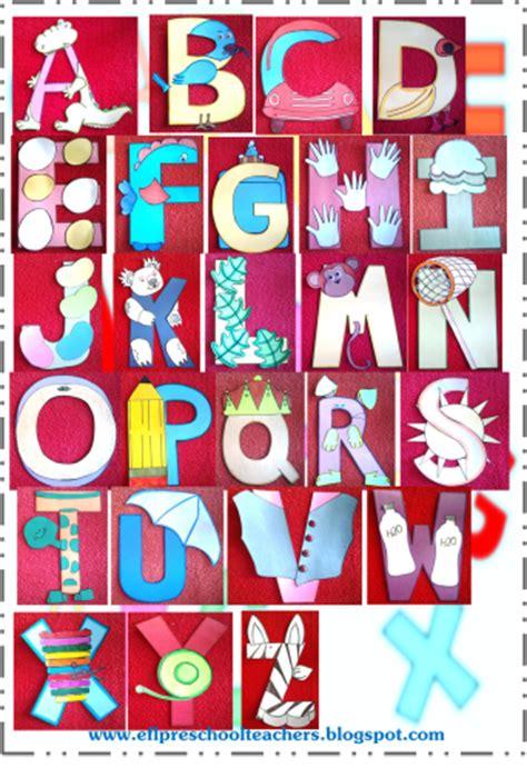 alphabet crafts for esl efl preschool teachers toys thematic unit for ell