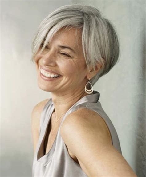 short grey hairstyles those over 50 grey bob hairstyles photo gallery of the best exle of