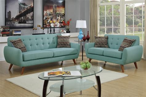 Blue Sofa Set Xuo Sofa And Lovseat Set Sky Blue Sofa Sets Living Room