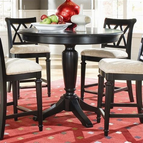 black counter height table camden black counter height pedestal table 919 707r