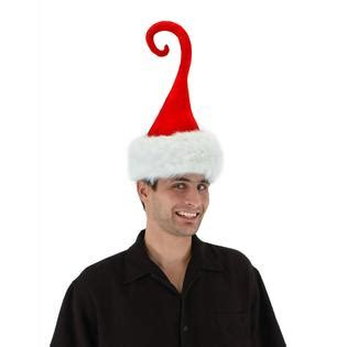 funny christmas hats for adults elope inc curly q santa hat costume fancy dress seasonal