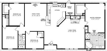 Jacobsen Mobile Home Floor Plans by The Tnr 46811w Manufactured Home Floor Plan Jacobsen Homes
