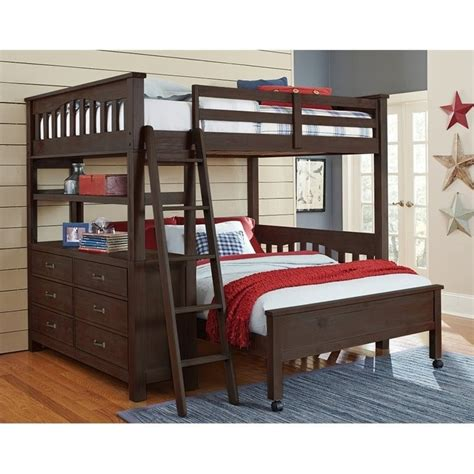 full bed bunk beds ne kids highlands full over full bunk bed in espresso