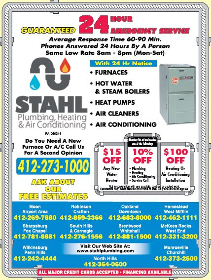 stahl plumbing cooling swissvale pa 15218 2461