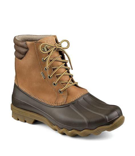 mens duck boots waterproof sperry avenue 180 s waterproof duck boots dillards