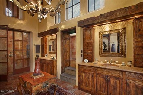 rustic master bathroom rustic master bathroom with raised panel high ceiling in