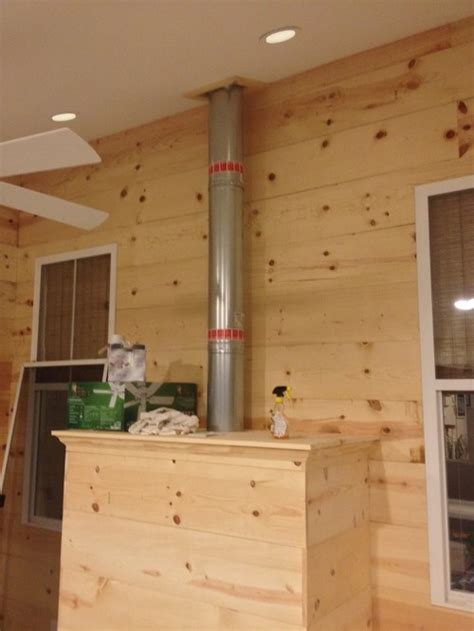 fireplace vent pipe need design ideas for enclosing gas fireplace vent pipe