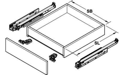 lade a scarica guide con ammortizzatore blum 550 mm