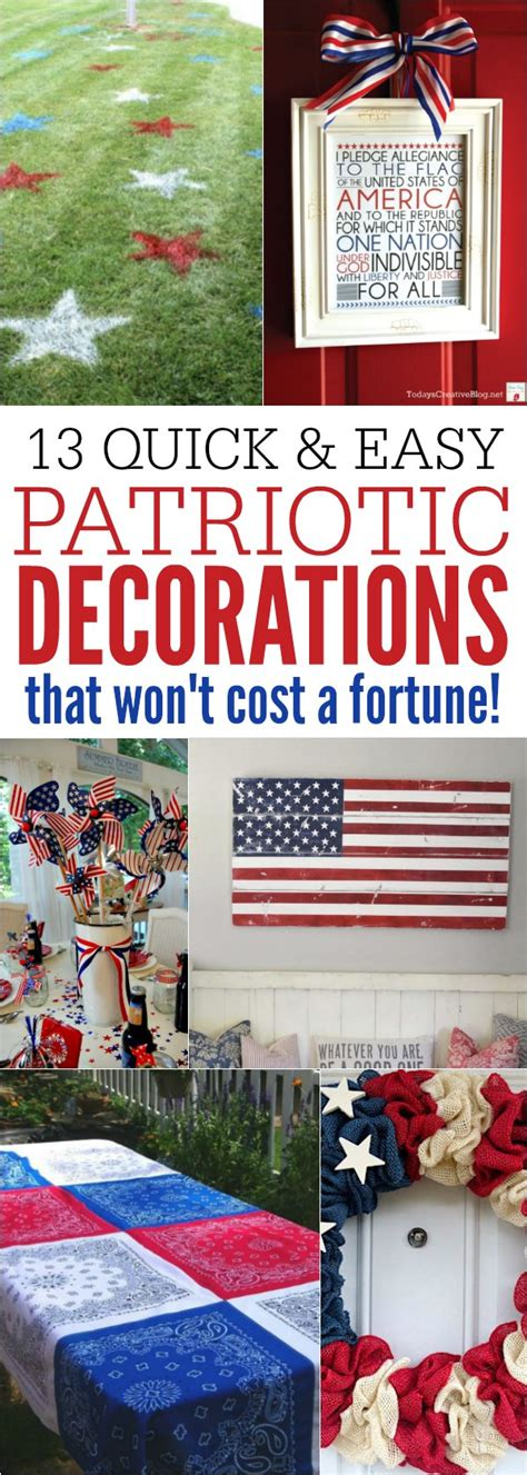 Patriotic Decorations For Home by Patriotic Decorations 13 And Easy 4th Of July