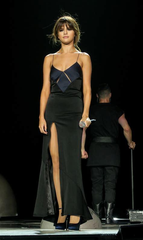 Gomez Dress selena gomez black spaghetti straps satin prom dress
