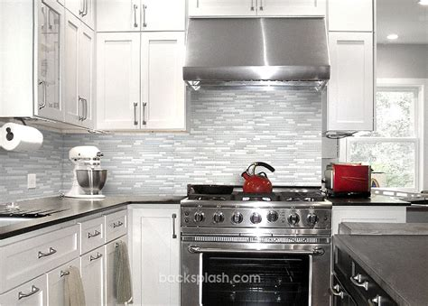 elegant white marble glass kitchen backsplash tile
