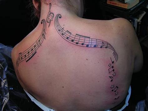 tattoo on your back song neck art body tattoos music notes tattoos tattoomagz