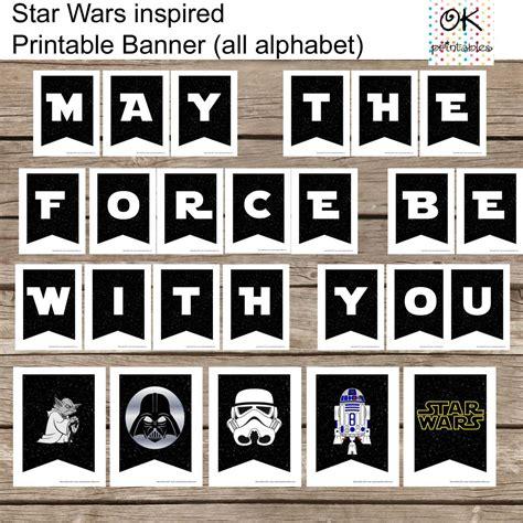 sta lettere all alphabet wars banner printable set all