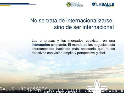 Lasalle Mba by Presentacion Mba Philadelphia La Salle Madrid
