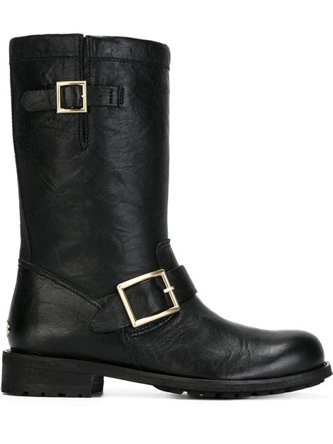 biker boots for sale jimmy choo biker boots in black lyst