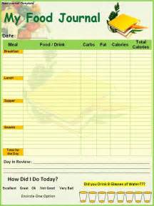 food tracker template food diary template printable food journal template
