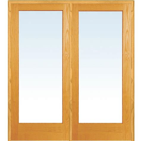 home depot double doors interior mmi door 74 in x 81 75 in classic clear glass 1 lite unfinished pine wood interior french
