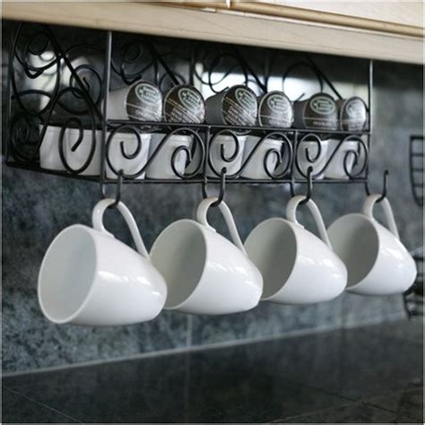 Cup Holders For Kitchen Cabinets Coffee Mug Rack And K Cup Holder Kitchen Ideas K Cup Holders Coffee Mugs And Mugs