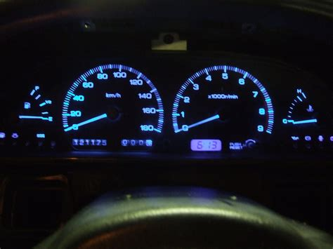 streetfx motorsport and graphics blue gauge cluster