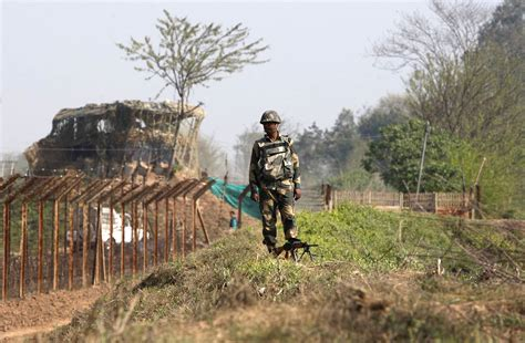 about india india installs laser walls at border with pakistan nbc