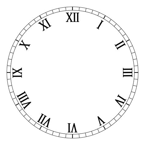 blank clock template blank clock clipart best