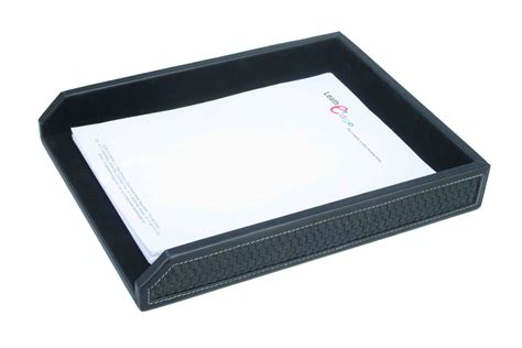Paper Tray - leatheredge paper trays office desktop sets