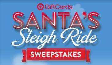 Target Sweepstakes - target santa s sleigh ride sweepstakes iwg win a 1 000 target gift card