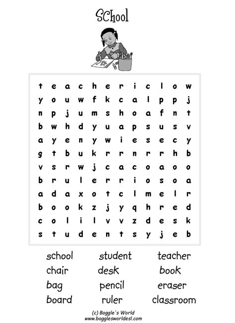 printable word search for english learners esl wordsearches