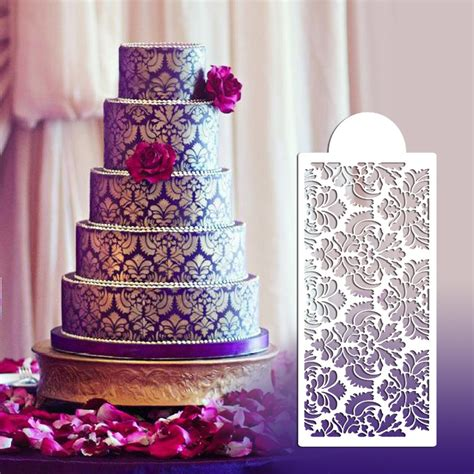 New Style Wedding Cakes by New Style Flower Design Stencil For Wedding Cake Fondant