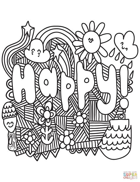 happy coloring pages happy coloring pages printable coloring page for