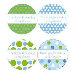 printable stickers for baby shower printable thank you tags stickers baby boy shower polka
