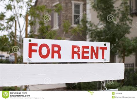 Apartments For Rent With No Credit Or Background Check For Rent Sign With Homes In Background Royalty Free Stock Photos Image 11759058