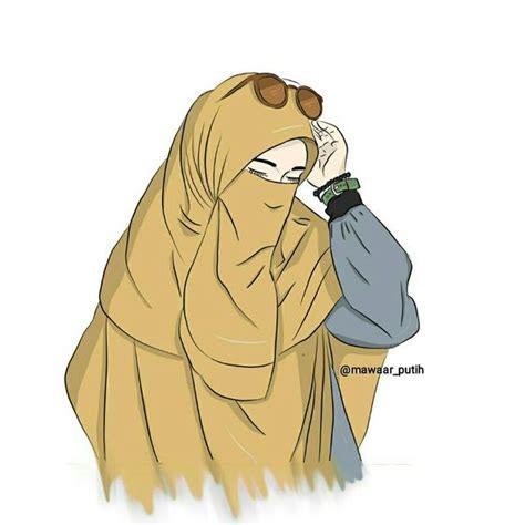 gambar anime kartun bercadar kartun muslimah