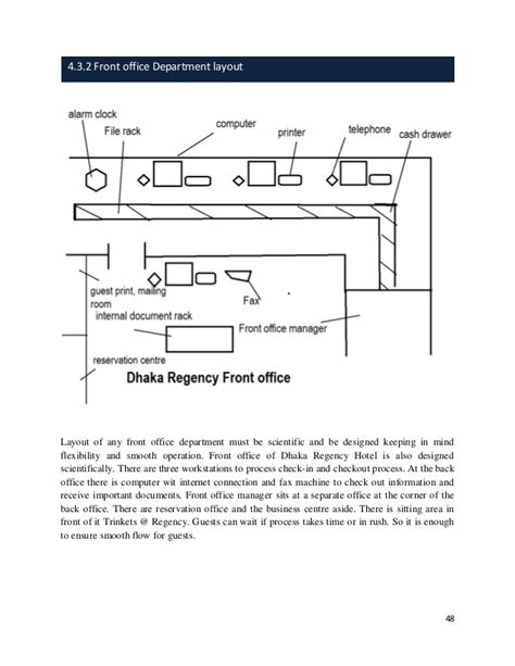 hotel department layout internship report on dhaka regency hotel resort