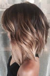 brown and ombre with a line hair cut 1000 ideas about medium short haircuts on pinterest